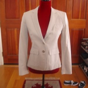 BANANA REPUBLIC Women Sz 2 Stretch Gray Blazer